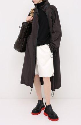 Женские кожаные ботинки bv tire BOTTEGA VENETA черного цвета, арт. 630300/VBS50 | Фото 2