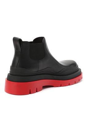 Женские кожаные ботинки bv tire BOTTEGA VENETA черного цвета, арт. 630300/VBS50 | Фото 4