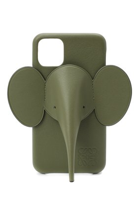 Мужской чехол для iphone 11 LOEWE зеленого цвета, арт. C719C80X01 | Фото 1
