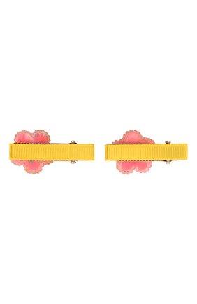 Детская комплект из двух заколок shiny flower JUNEFEE разноцветного цвета, арт. 6255 | Фото 2