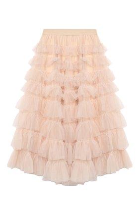 Детская юбка MONNALISA бежевого цвета, арт. 796702 | Фото 1