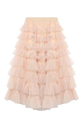 Детская юбка MONNALISA бежевого цвета, арт. 796702 | Фото 2
