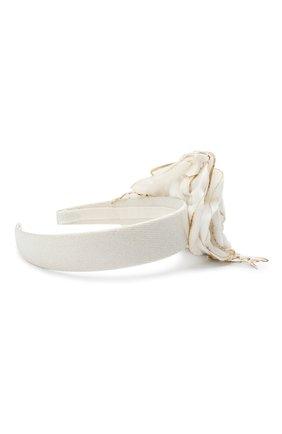 Детского ободок MONNALISA белого цвета, арт. 796008 | Фото 2
