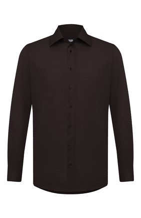 Мужская хлопковая сорочка ZILLI коричневого цвета, арт. MFU-00401-01044/0001 | Фото 1