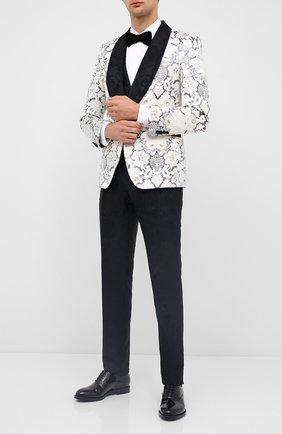 Мужские кожаные оксфорды GIORGIO ARMANI черного цвета, арт. X2C597/XC882 | Фото 2
