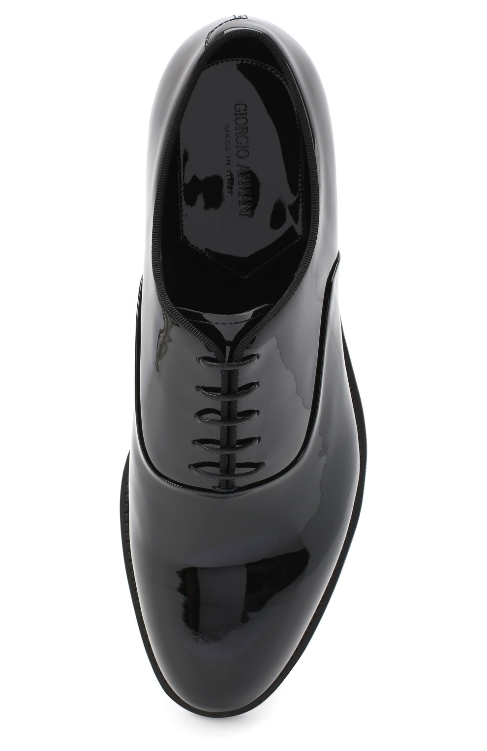Мужские кожаные оксфорды GIORGIO ARMANI черного цвета, арт. X2C597/XC882 | Фото 5