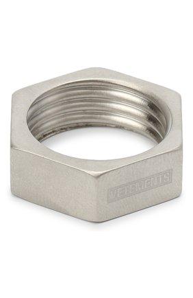 Мужское кольцо VETEMENTS серебряного цвета, арт. UAH21RI170 | Фото 1