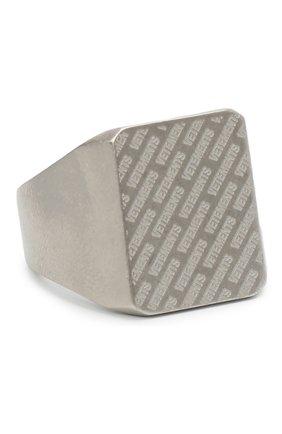 Мужское кольцо VETEMENTS серебряного цвета, арт. UAH21RI172 | Фото 1