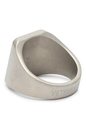 Мужское кольцо VETEMENTS серебряного цвета, арт. UAH21RI172 | Фото 2