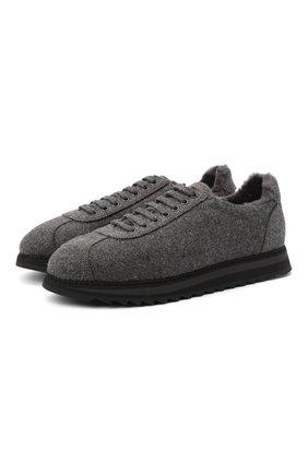 Мужские текстильные кроссовки DOUCAL'S темно-серого цвета, арт. DU1791WINNUM0322N05 | Фото 1
