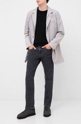 Мужские текстильные кроссовки DOUCAL'S темно-серого цвета, арт. DU1791WINNUM0322N05 | Фото 2