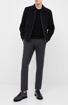 Мужские кожаные кроссовки DOUCAL'S темно-синего цвета, арт. DU1795WINNPT0212B02 | Фото 2