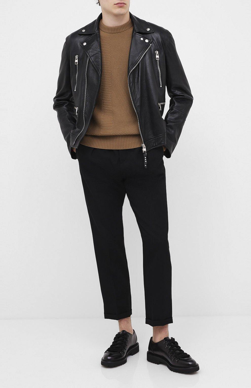 Мужские кожаные дерби DOUCAL'S черного цвета, арт. DU2736PHILUF087NN00   Фото 2
