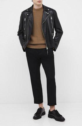 Мужской кожаные дерби DOUCAL'S черного цвета, арт. DU2736PHILUF087NN00 | Фото 2