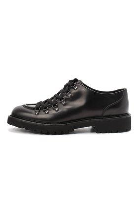 Мужские кожаные дерби DOUCAL'S черного цвета, арт. DU2736PHILUF087NN00   Фото 3