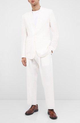 Мужской кожаные дерби MOMA коричневого цвета, арт. 2AW135-T0 | Фото 2