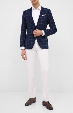Мужской шерстяной пиджак BOSS синего цвета, арт. 50432907 | Фото 2
