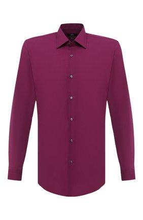 Мужская хлопковая сорочка BOSS фиолетового цвета, арт. 50433188 | Фото 1