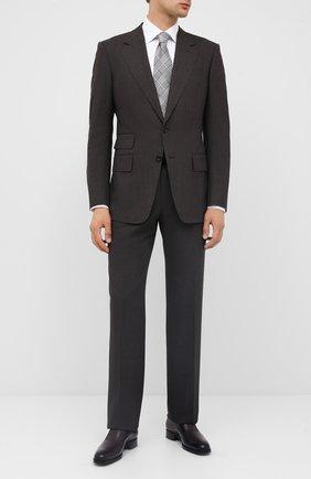 Мужские кожаные монки TOM FORD темно-коричневого цвета, арт. J1029T-BET | Фото 2