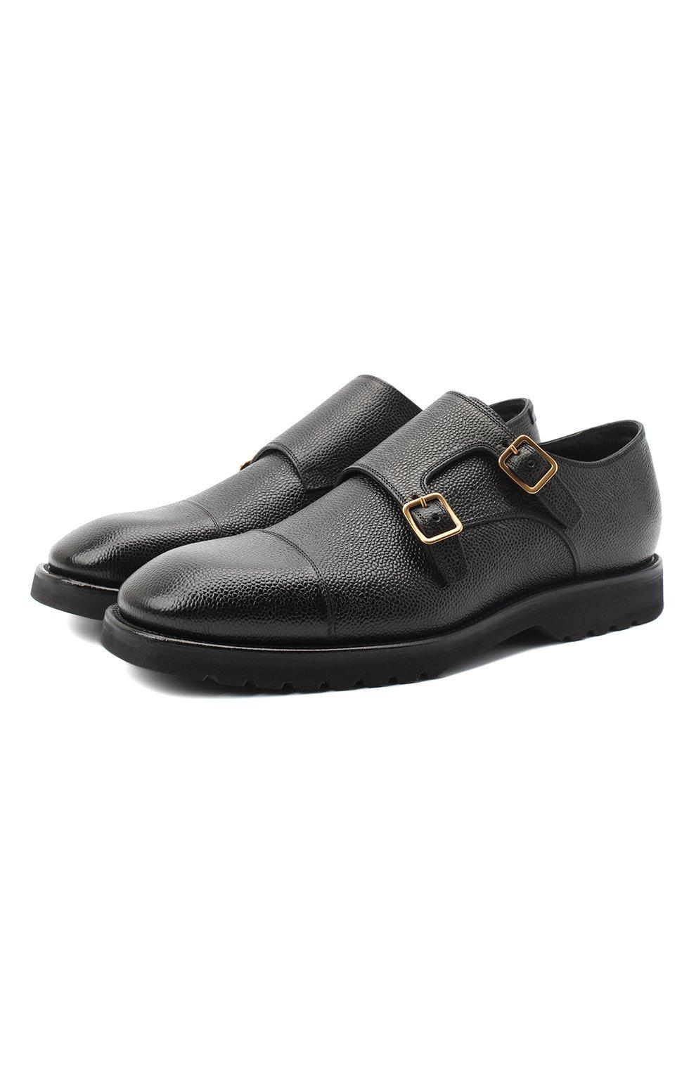 Мужские кожаные монки TOM FORD черного цвета, арт. J1245L-LCL093   Фото 1 (Материал внутренний: Натуральная кожа; Стили: Классический)