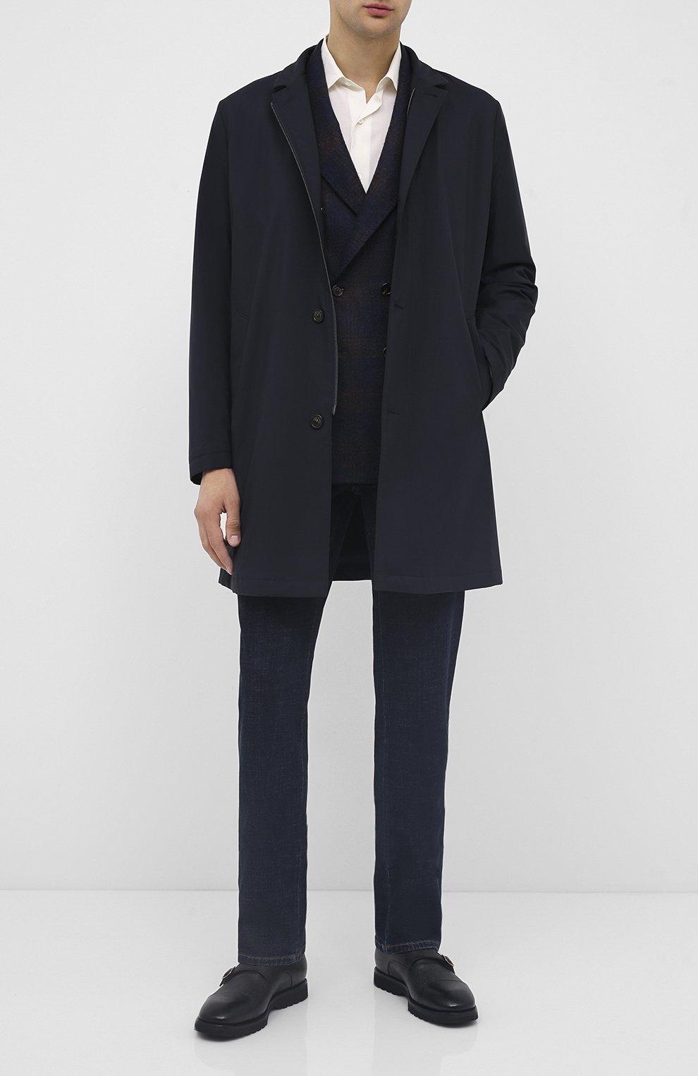 Мужские кожаные монки TOM FORD черного цвета, арт. J1245L-LCL093   Фото 2 (Материал внутренний: Натуральная кожа; Стили: Классический)