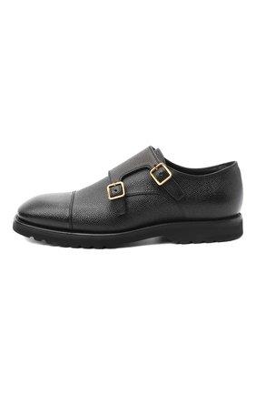 Мужские кожаные монки TOM FORD черного цвета, арт. J1245L-LCL093   Фото 3 (Материал внутренний: Натуральная кожа; Стили: Классический)