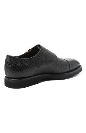 Мужские кожаные монки TOM FORD черного цвета, арт. J1245L-LCL093   Фото 4 (Материал внутренний: Натуральная кожа; Стили: Классический)