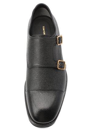 Мужские кожаные монки TOM FORD черного цвета, арт. J1245L-LCL093   Фото 5 (Материал внутренний: Натуральная кожа; Стили: Классический)