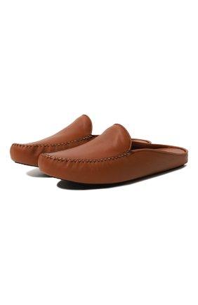 Мужского домашние кожаные туфли HOMERS AT HOME светло-коричневого цвета, арт. 12511F/SEDACALF | Фото 1