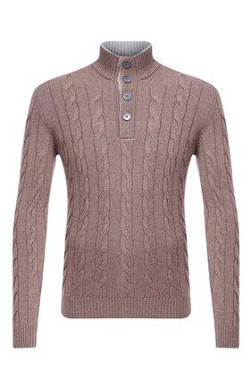 Мужской свитер из шерсти и кашемира GRAN SASSO темно-бежевого цвета, арт. 23151/19672 | Фото 1