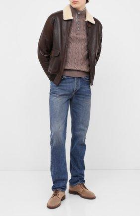 Мужской свитер из шерсти и кашемира GRAN SASSO темно-бежевого цвета, арт. 23151/19672 | Фото 2