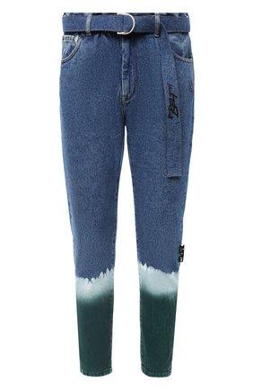 Мужские джинсы OFF-WHITE синего цвета, арт. 0MYA005E20DEN0024500 | Фото 1