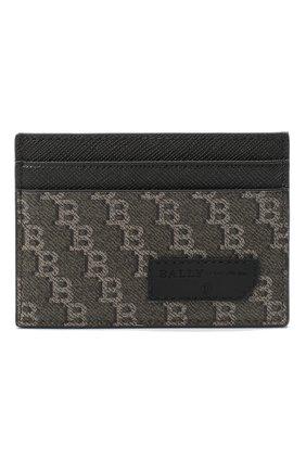 Мужской футляр для кредитных карт BALLY коричневого цвета, арт. BHAR.PBB/155   Фото 1