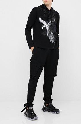 Мужской хлопковое худи VALENTINO черного цвета, арт. UV3MF14D6JH | Фото 2