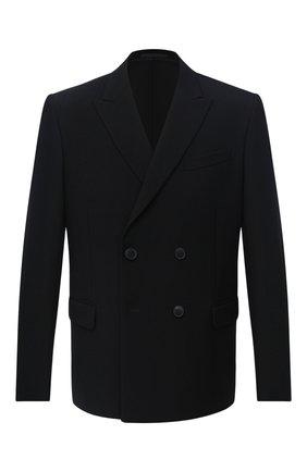 Мужской шерстяной пиджак VALENTINO черного цвета, арт. UV3CEA206DY | Фото 1