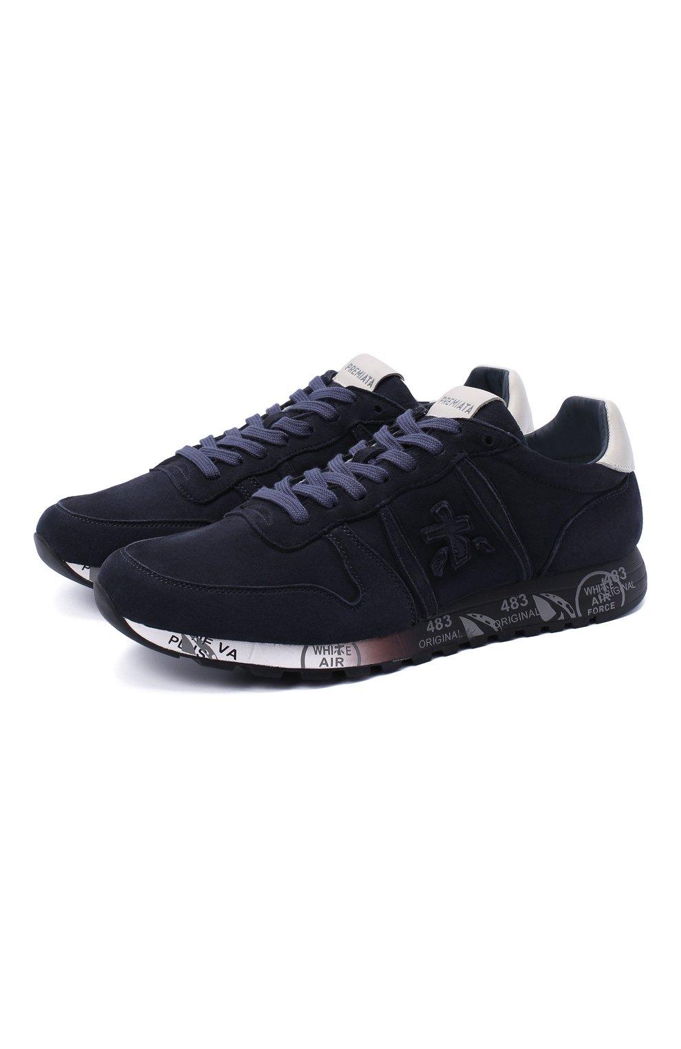 Мужские замшевые кроссовки eric PREMIATA темно-синего цвета, арт. ERIC/VAR4936 | Фото 1