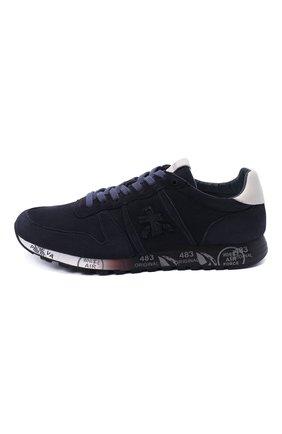Мужские замшевые кроссовки eric PREMIATA темно-синего цвета, арт. ERIC/VAR4936 | Фото 3