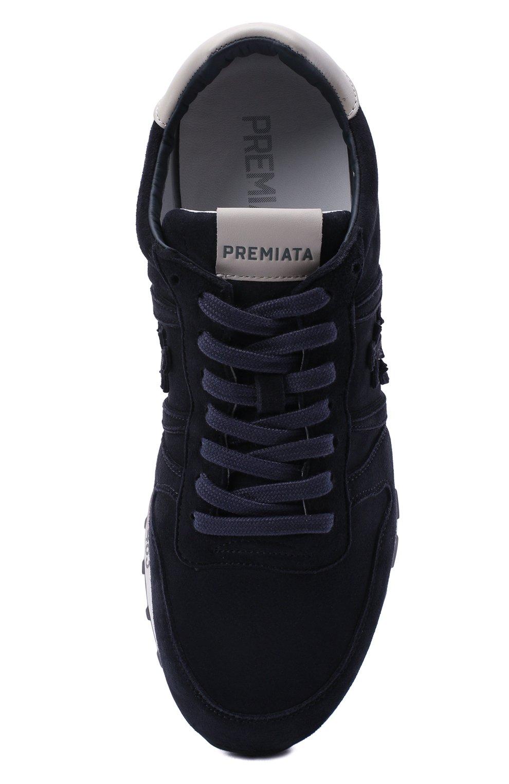 Мужские замшевые кроссовки eric PREMIATA темно-синего цвета, арт. ERIC/VAR4936 | Фото 5