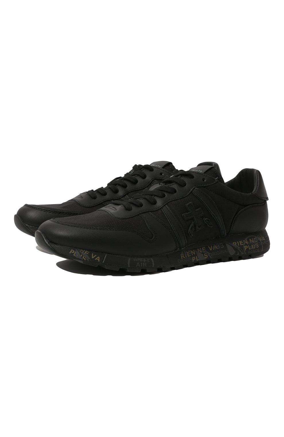 Мужские комбинированные кроссовки eric PREMIATA черного цвета, арт. ERIC/VAR4939 | Фото 1