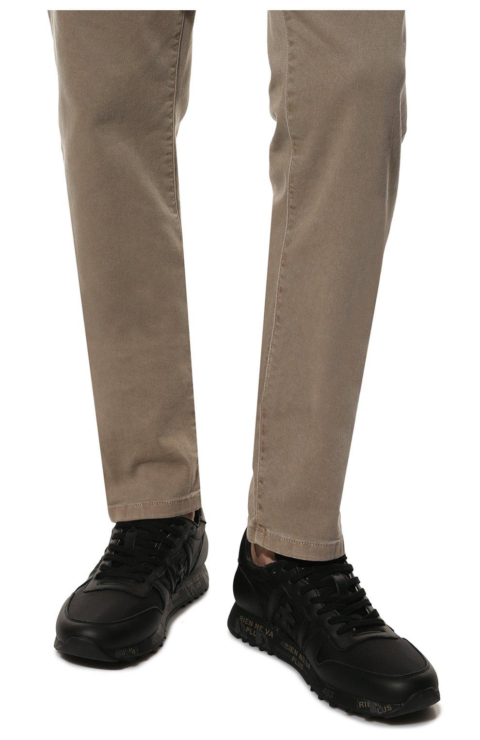 Мужские комбинированные кроссовки eric PREMIATA черного цвета, арт. ERIC/VAR4939 | Фото 3