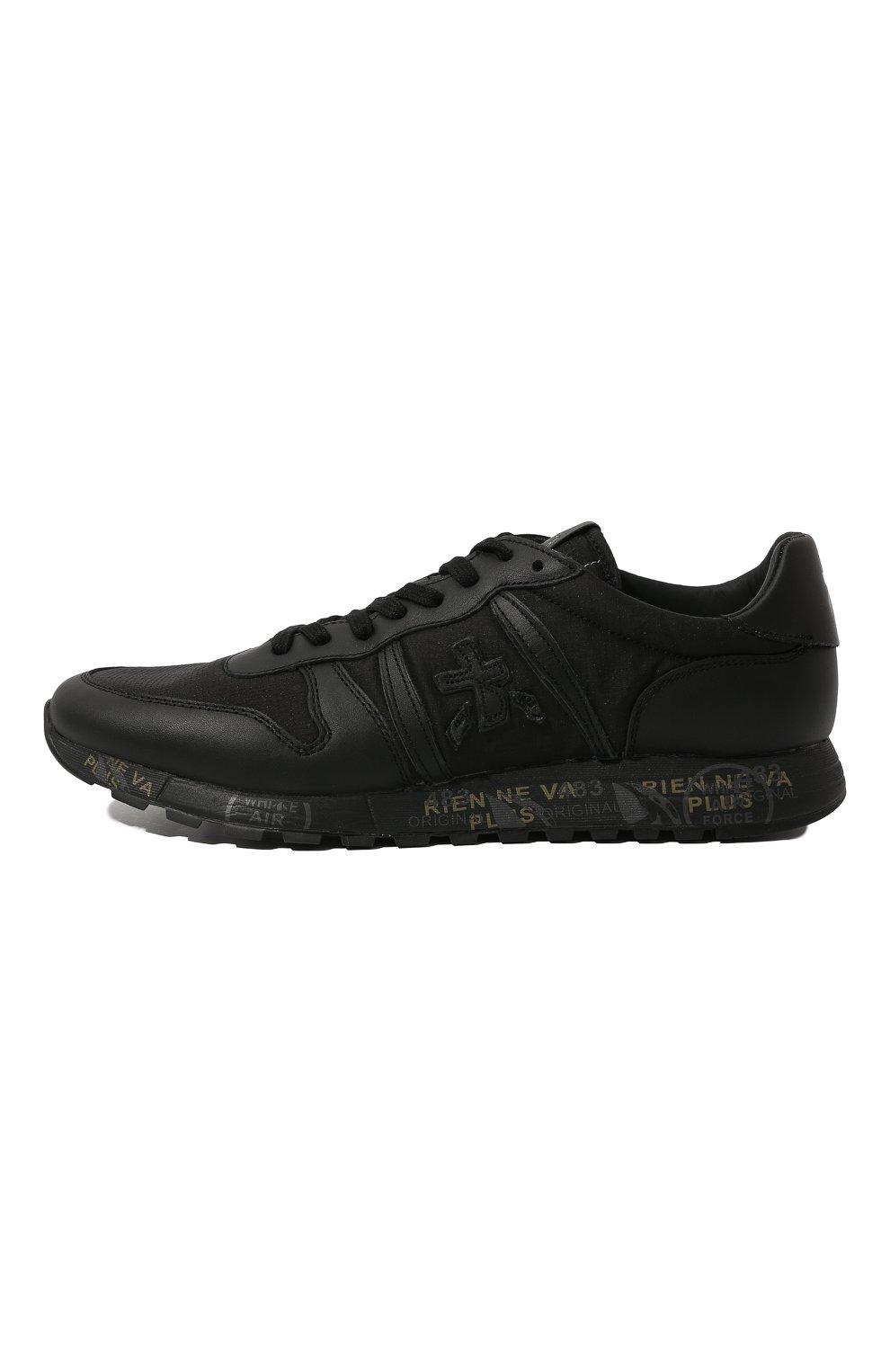 Мужские комбинированные кроссовки eric PREMIATA черного цвета, арт. ERIC/VAR4939 | Фото 4