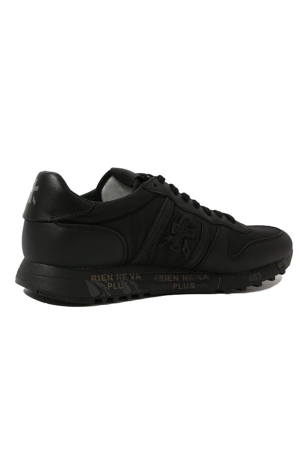 Мужские комбинированные кроссовки eric PREMIATA черного цвета, арт. ERIC/VAR4939 | Фото 5