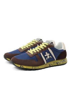 Мужские комбинированные кроссовки eric PREMIATA разноцветного цвета, арт. ERIC/VAR4942 | Фото 1