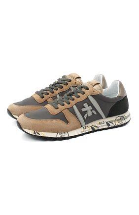 Мужские комбинированные кроссовки eric PREMIATA коричневого цвета, арт. ERIC/VAR4943 | Фото 1