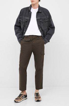 Мужские комбинированные кроссовки eric PREMIATA коричневого цвета, арт. ERIC/VAR4943 | Фото 2