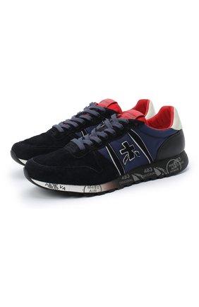 Мужские замшевые кроссовки eric PREMIATA темно-синего цвета, арт. ERIC/VAR4945 | Фото 1