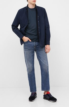 Мужские замшевые кроссовки eric PREMIATA темно-синего цвета, арт. ERIC/VAR4945 | Фото 2