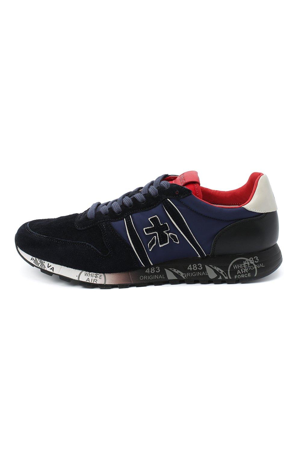 Мужские замшевые кроссовки eric PREMIATA темно-синего цвета, арт. ERIC/VAR4945 | Фото 3
