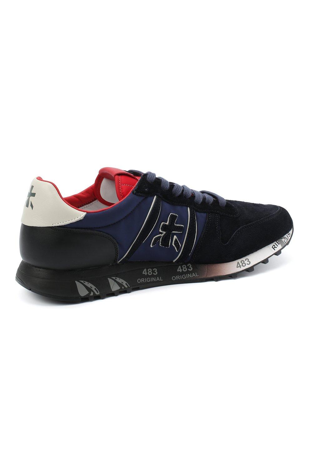 Мужские замшевые кроссовки eric PREMIATA темно-синего цвета, арт. ERIC/VAR4945 | Фото 4
