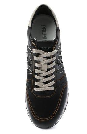 Мужские кожаные кроссовки lander PREMIATA черного цвета, арт. LANDER/VAR4946 | Фото 5